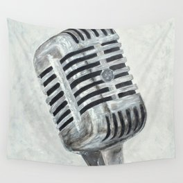 Vintage Microphone Wall Tapestry