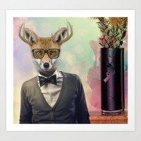 ben giles Art Prints featuring BEN by Hagara Stuff