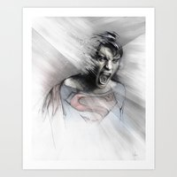 superheroes Art Prints featuring Superheroes SF by Alexis Marcou