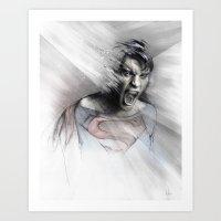 superheroes Art Prints featuring Superheroes SF by Alexis Marcou