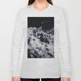 OCEAN - WAVES - SEA - ROCKS - DARK - WATER Long Sleeve T-shirt