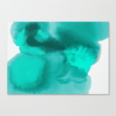 Teal Watercolor Abstract Canvas Print