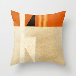 Solitaire du Figaro (ocre) Throw Pillow