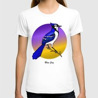 jay fleck T-shirts featuring BLUE JAY by SCREAMNJIMMY
