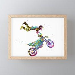 Motocross Dirt Bike Framed Mini Art Print