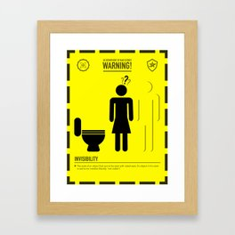 Mad Science: Invisibility Framed Art Print