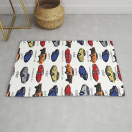 Famous cars Rug