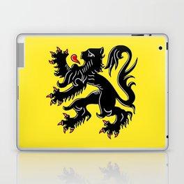 Flag of Flanders - Belgium,Belgian,vlaanderen,Vlaam,Oostende,Antwerpen,Gent,Beveren,Brussels,flamish Laptop & iPad Skin