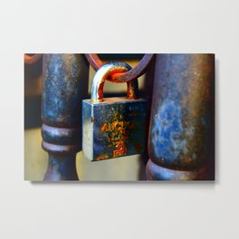 rusty lock Metal Print