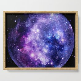 Galaxy Planet Purple Blue Space Serving Tray