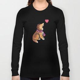 Watercolour Shetland Sheepdog Long Sleeve T-shirt