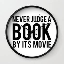 Never Judge A Book By Its Movie Wall Clock