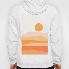 Abstract Landscape 09 Orange Hoody