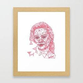 Brie Larson Fracture Drawing Framed Art Print