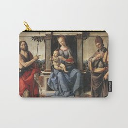 Andrea del Verrocchio - Madonna with Sts John the Baptist and Donatus Carry-All Pouch
