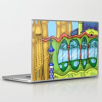 barcelona Laptop & iPad Skins featuring Barcelona by Aleksandra Jevtovic