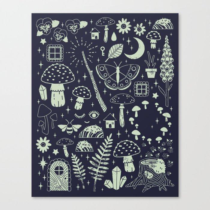 Fairy Garden: Midnight Leinwanddruck