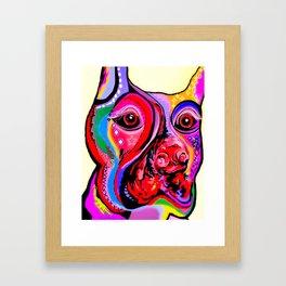Doberman Pinscher Close Up Bright Colors Framed Art Print