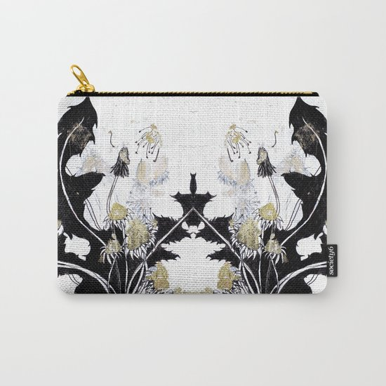 Gold Dandelions Carry-All Pouch