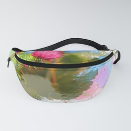 Vibrant painted thistle on white Fanny Pack
