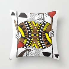 The King Of Shit Throw Pillow