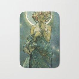 "Alphonse Mucha ""The Moon and the Stars Series: The Moon"" Bath Mat"
