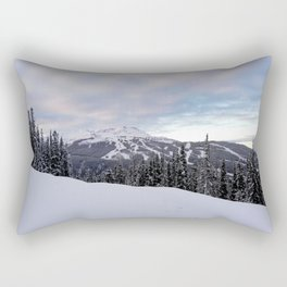 Mountains behind the trees Rectangular Pillow