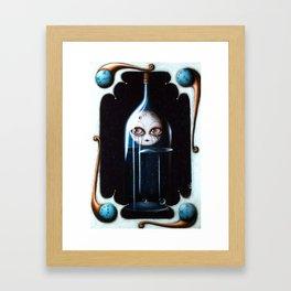 Bottled moon Framed Art Print