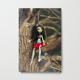 Fairy Scout in my Garden Metal Print
