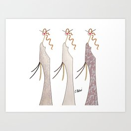 Stella, Chloé & Lisa Art Print
