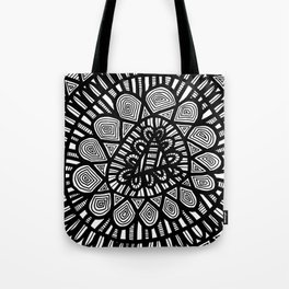 Black and White Doodle 7 Tote Bag