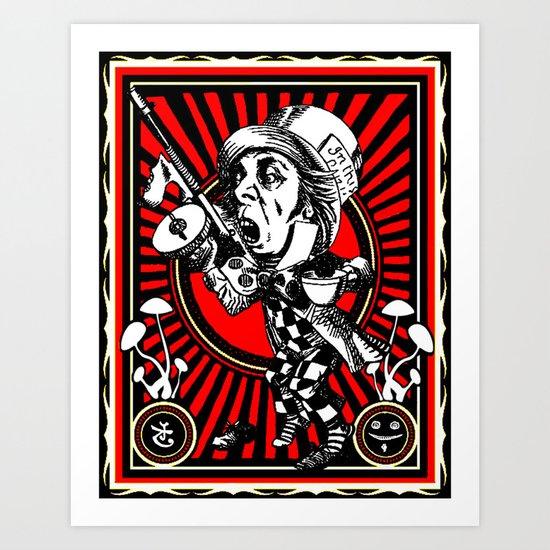 Hatter Red Art Print