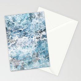 Sea foam blue marble Stationery Cards