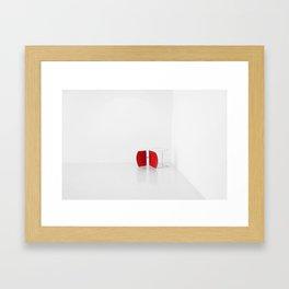 Red Chair on Side in Corner  Framed Art Print