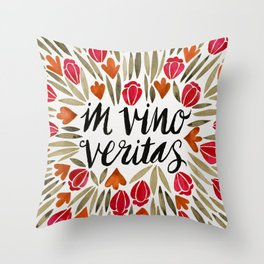 In Wine, There is Truth – Red Throw Pillow