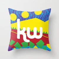 memphis Throw Pillows featuring Memphis by KAYWAAL