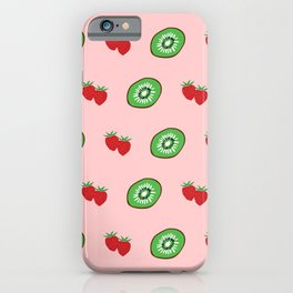 Strawberry and Kiwifruit Bright Pattern iPhone Case