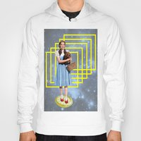 thrones Hoodies featuring Yellow brick road by Laura Nadeszhda