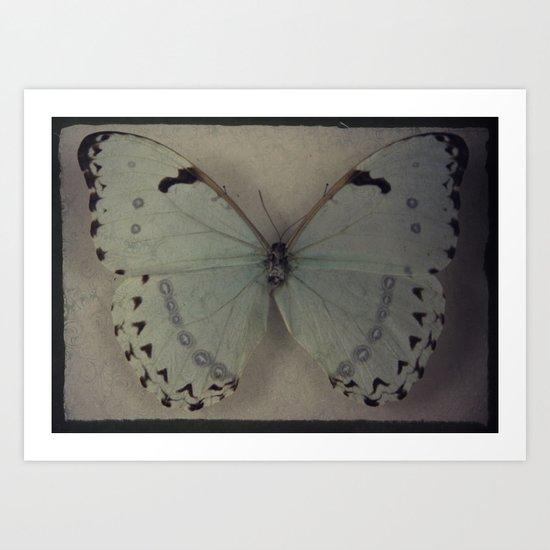 Papillon _ Vintage Flutter Art Print