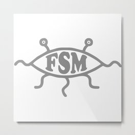 FSM Church Of The Flying Spaghetti Monster Metal Print