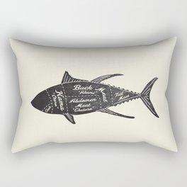 Tuna Butcher Diagram-Fish Rectangular Pillow