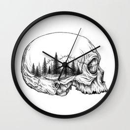 SKULL/FOREST Wall Clock