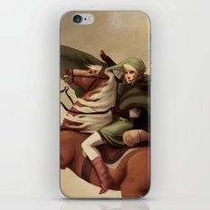 The Hero Crossing Death Mountain iPhone & iPod Skin