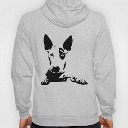 English Bull Terrier, dog breed art, black white, monochrome Hoody