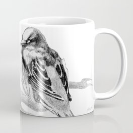 Sparrow Bird Snoozing Coffee Mug