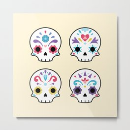 Cute sugar skulls Metal Print