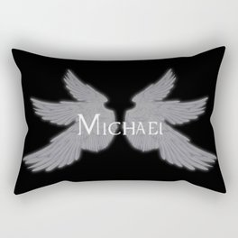 Archangel Michael with Wings Rectangular Pillow