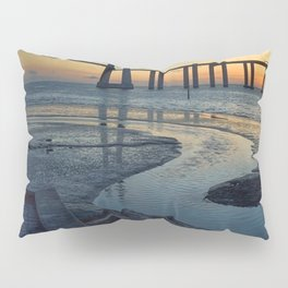 Vasco da Gama Bridge, Lisbon, Portugal. Pillow Sham