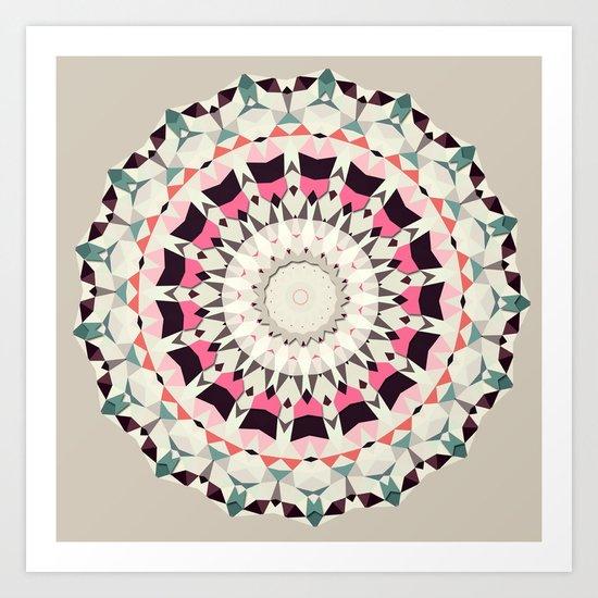 Retro Light Spin (circle week) Art Print