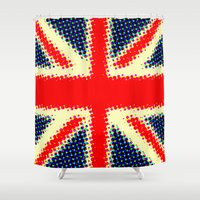 union jack Shower Curtains featuring Union Jack by deff